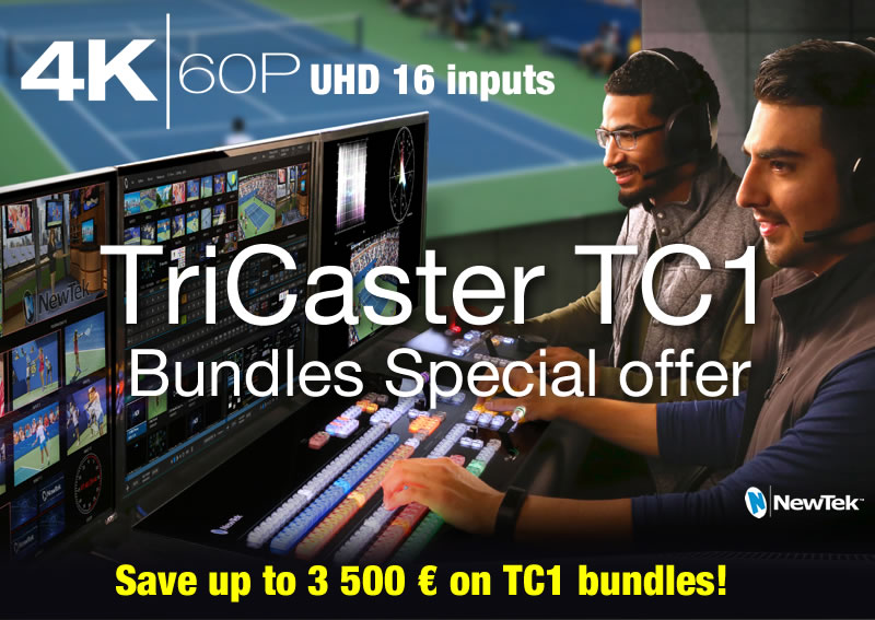 New TriCaster TC1 bundles - Mix and Match !