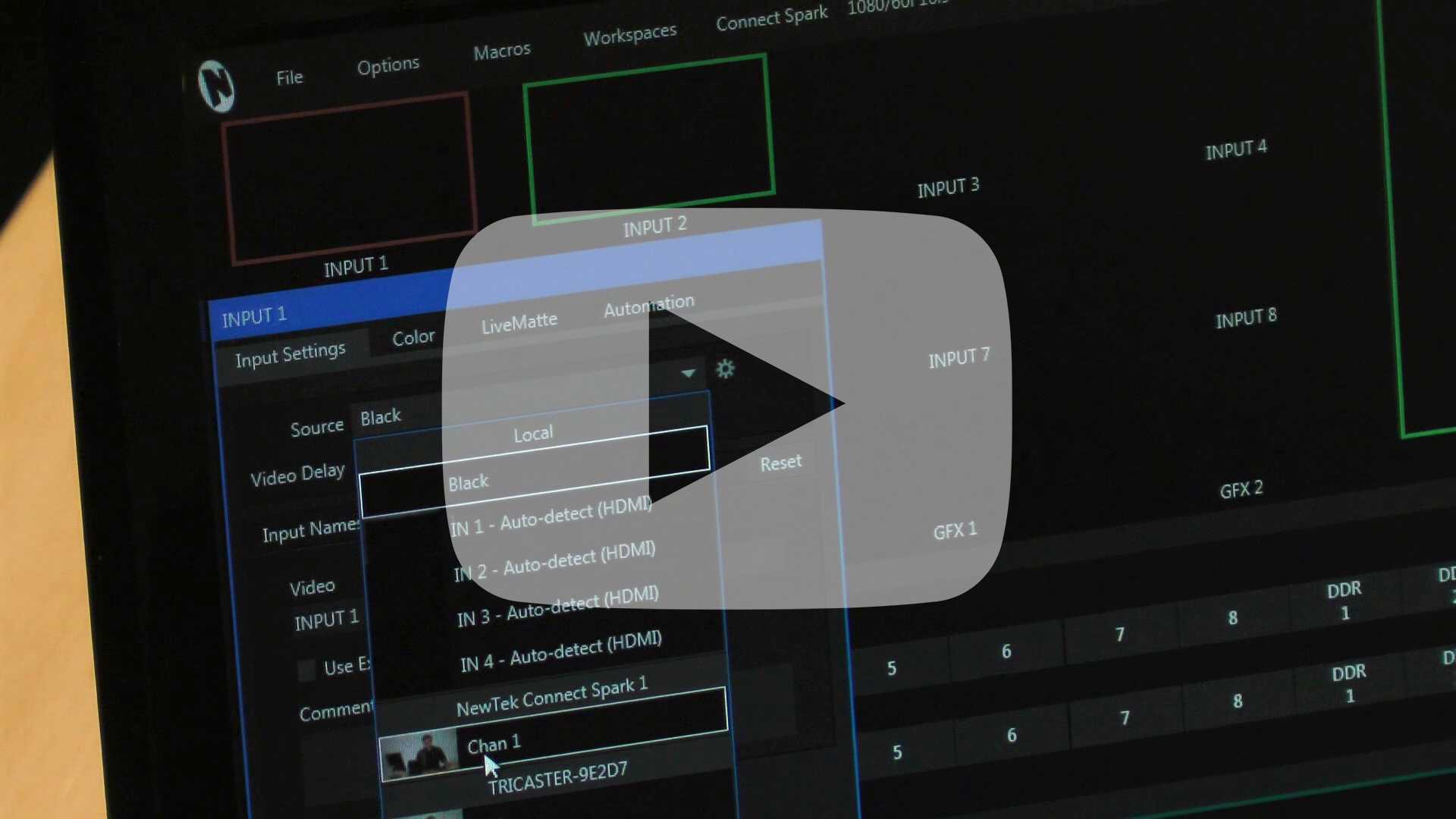 Adding Video Inputs to Your Production System with NewTek Connect Spark